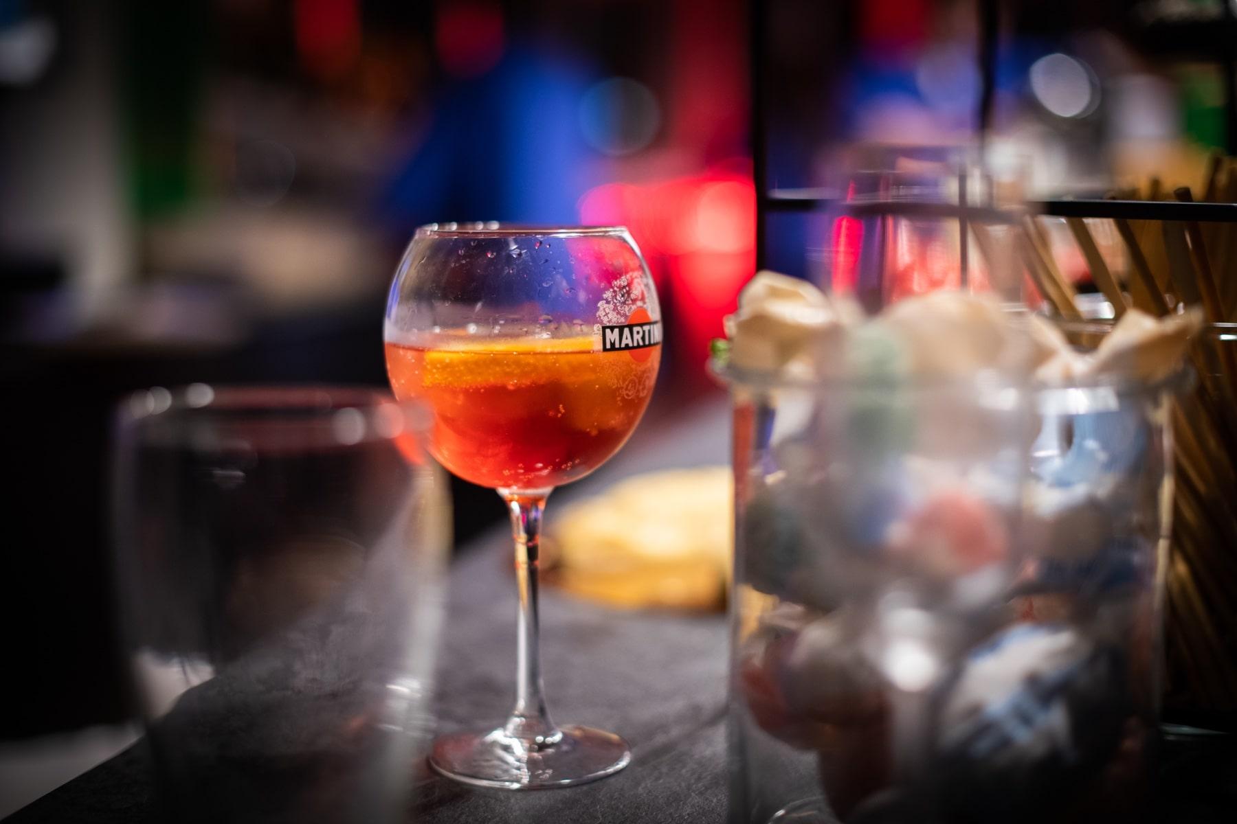 Photo d'un verre de spritz
