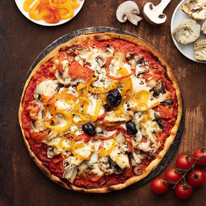 Pizza-italienne-faite-maison-Vegetarienne-La-Tour-de-Pise