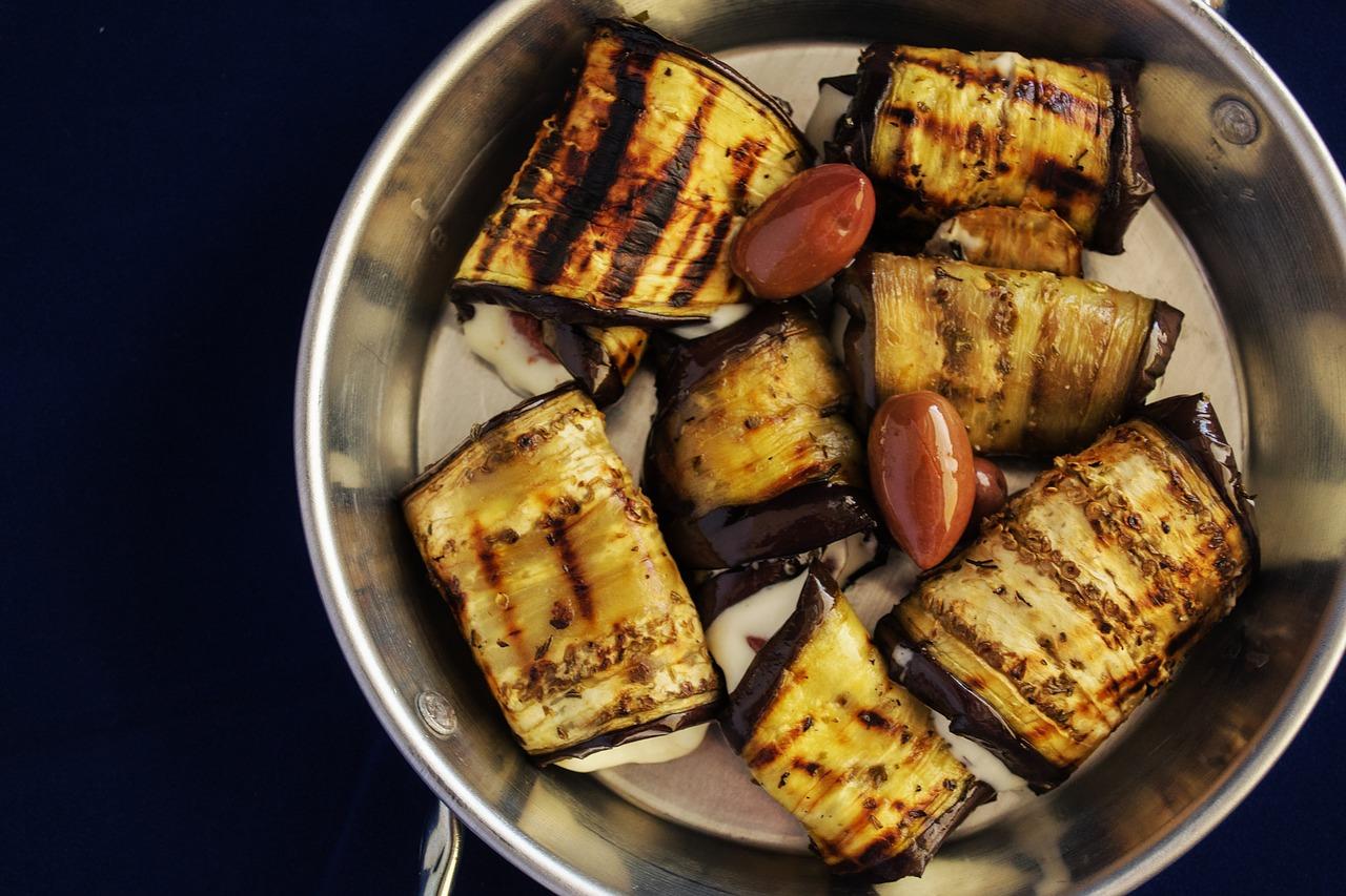Photo d'involtini à l'aubergine